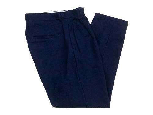 maillot C/W denim tuck tapered pants INDIGO