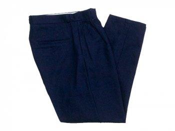 maillot C/W denim tuck tapered pants INDIGO