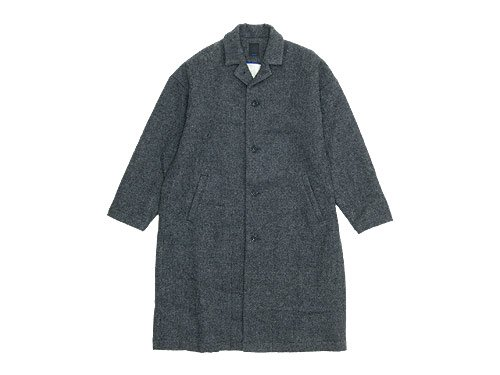 maillot shetland wool gown coat GRAY