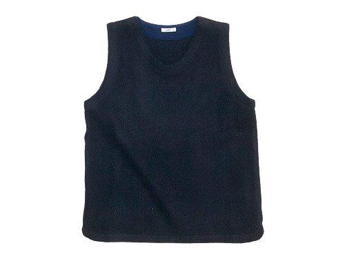 maillot melton U neck vest NAVY