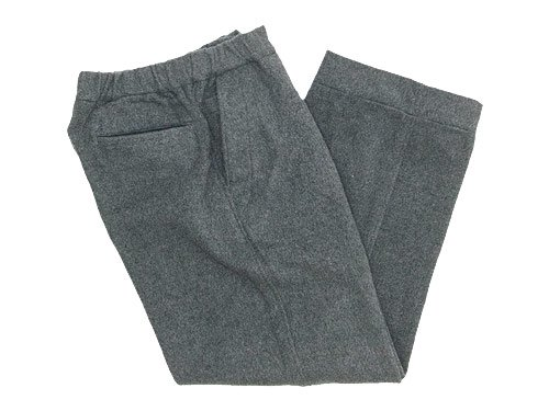maillot b.label cotton melton wide easy pants GRAY