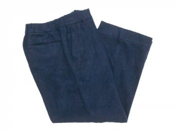 maillot b.label cotton melton wide easy pants NAVY