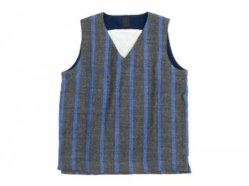 maillot linen wool pull vest