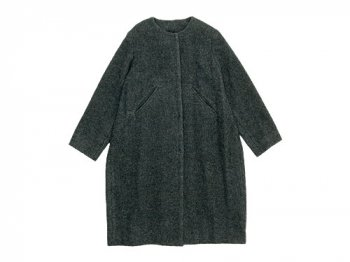 Lin francais d'antan Seurat(スーラ) No Collar Coat Wool&Alpaca GRAY