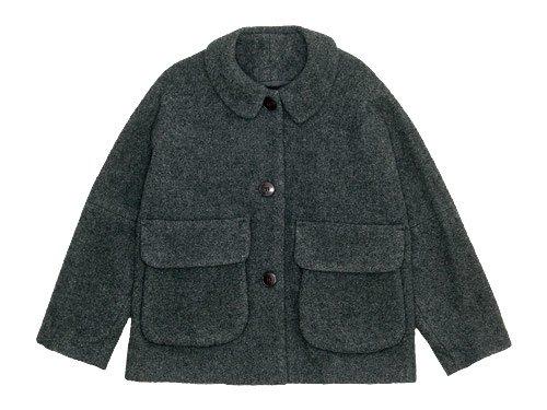 Lin francais d'antan Clouet(クルーエ) Round Collar Jacket Wool&Alpaca GRAY