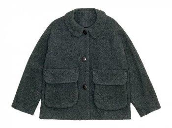 Lin francais d'antan Clouet(クルーエ) Round Collar Jacket Wool&Alpaca