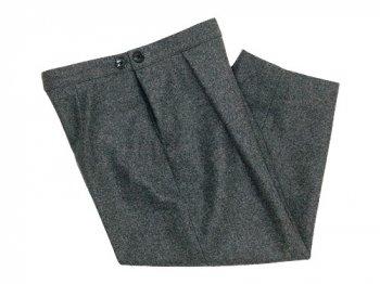 Lin francais d'antan Salvador tack pants Wool GRAY