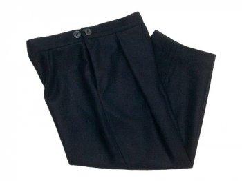 Lin francais d'antan Salvador tack pants Wool BLACK