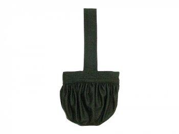 Lin francais d'antan Carol Round Bag Wool OLIVE