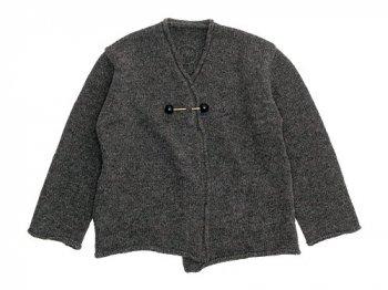 Lin francais d'antan Degas Shetland Knit Cardigan GRAY