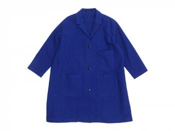 Lin francais d'antan Godard(ゴダール) Cotton Moleskin Coat BLUE