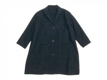Lin francais d'antan Godard(ゴダール) Cotton Moleskin Coat BLACK