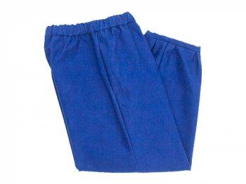 Lin francais d'antan Parrot Cotton Moleskin pants BLUE