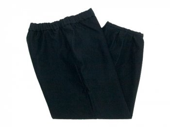 Lin francais d'antan Parrot Cotton Moleskin pants BLACK
