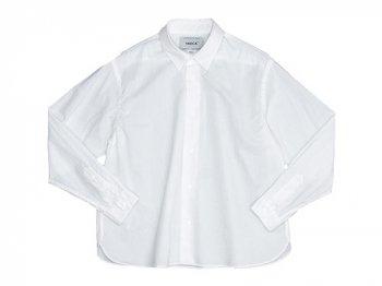 YAECA コンフォートシャツ ワイドショート WHITE 〔レディース〕