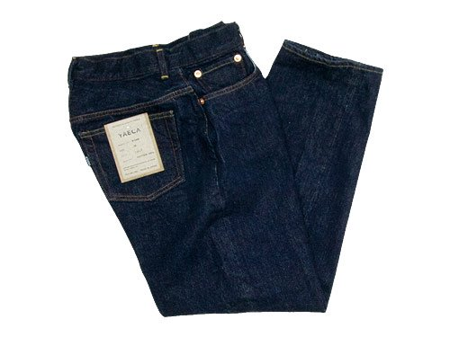 YAECA DENIM PANTS WIDE TAPERED 14W INDIGO 〔レディース〕