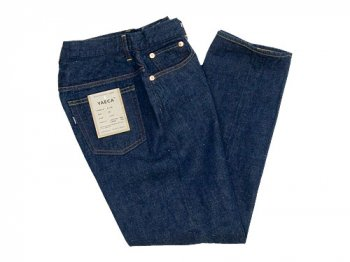 YAECA DENIM PANTS WIDE TAPERED 11W INDIGO 〔レディース〕