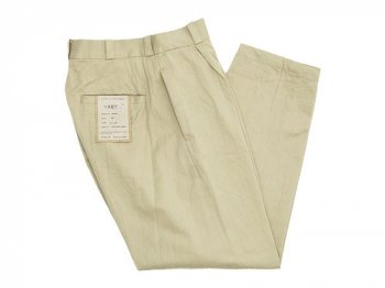 YAECA CHINO CLOTH PANTS TUCK TAPERED BEIGE 〔レディース〕