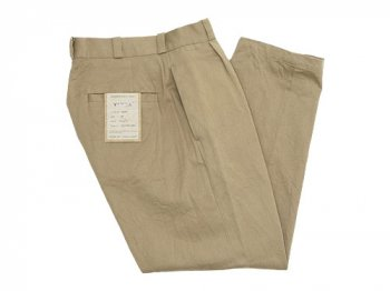 YAECA CHINO CLOTH PANTS TUCK TAPERED KAHKI 〔レディース〕