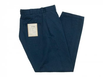 YAECA CHINO CLOTH PANTS TUCK TAPERED NAVY 〔レディース〕