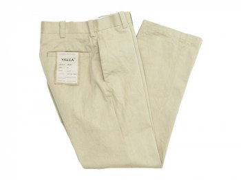 YAECA CHINO CLOTH PANTS PIPED STEM BEIGE 〔レディース〕