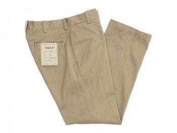 YAECA CHINO CLOTH PANTS PIPED STEM KHAKI 〔レディース〕