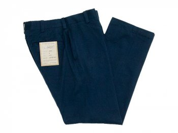 YAECA CHINO CLOTH PANTS PIPED STEM NAVY 〔レディース〕