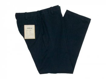 YAECA CHINO CLOTH PANTS PIPED STEM BLACK 〔レディース〕