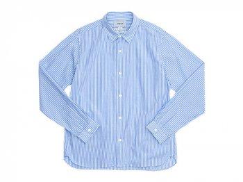 YAECA コンフォートシャツ スタンダード BLUE STRIPE 〔メンズ〕