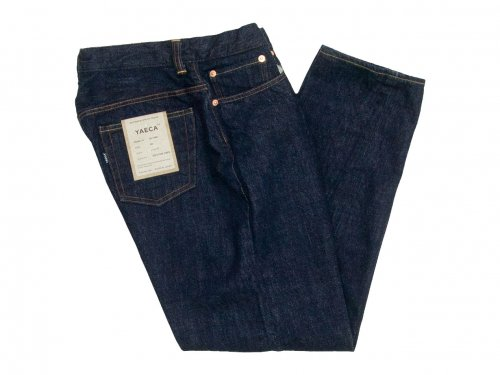 YAECA DENIM PANTS WIDE TAPERED 14W INDIGO 〔メンズ〕