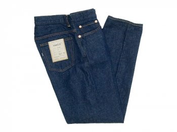 YAECA DENIM PANTS WIDE TAPERED 11W INDIGO 〔メンズ〕