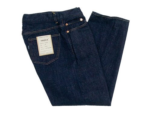 YAECA DENIM PANTS WIDE STRAIGHT 14W INDIGO 〔メンズ〕