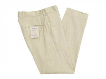 YAECA CHINO CLOTH PANTS STANDARD BEIGE 〔メンズ〕