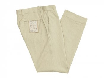 YAECA CHINO CLOTH PANTS PIPED STEM BEIGE 〔メンズ〕