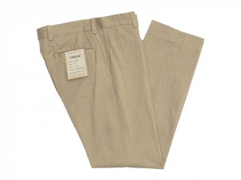 YAECA CHINO CLOTH PANTS PIPED STEM KHAKI 〔メンズ〕