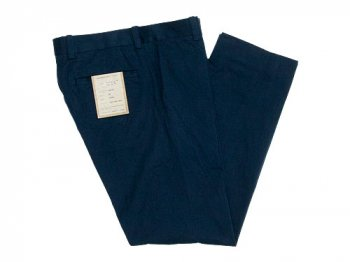 YAECA CHINO CLOTH PANTS PIPED STEM NAVY 〔メンズ〕
