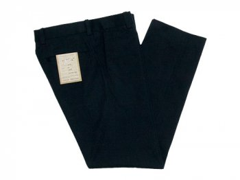YAECA CHINO CLOTH PANTS PIPED STEM BLACK 〔メンズ〕