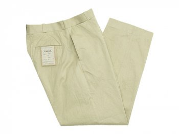 YAECA CHINO CLOTH PANTS WIDE BEIGE 〔メンズ〕
