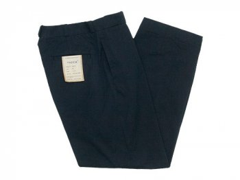 YAECA CHINO CLOTH PANTS WIDE BLACK 〔メンズ〕