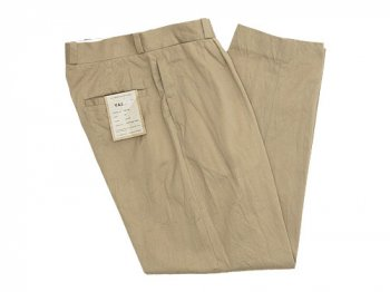 YAECA CHINO CLOTH PANTS TUCK TAPERED KHAKI 〔メンズ〕