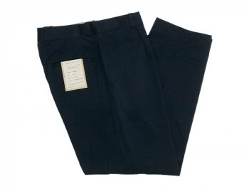 YAECA CHINO CLOTH PANTS TUCK TAPERED BLACK 〔メンズ〕