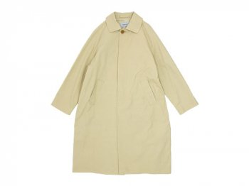 YAECA SOUTIEN COLLAR COAT LONG BEIGE 〔レディース〕
