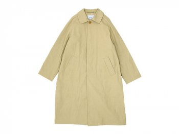 YAECA SOUTIEN COLLAR COAT LONG KHAKI 〔レディース〕