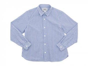 YAECA コンフォートシャツ スタンダード BLUE STRIPE 〔レディース〕