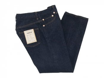 YAECA DENIM PANTS SLIM TAPERED 14W INDIGO 〔レディース〕