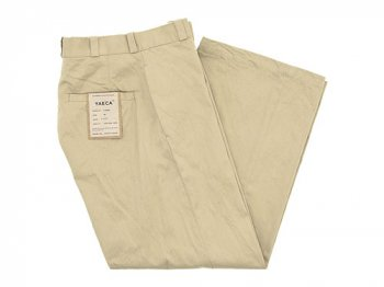 YAECA CHINO CLOTH PANTS WIDE BEIGE 〔レディース〕