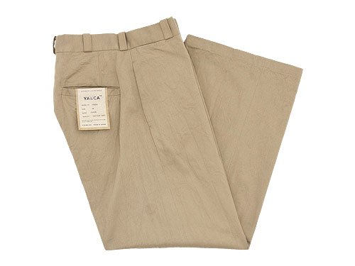 YAECA CHINO CLOTH PANTS WIDE KHAKI 〔レディース〕