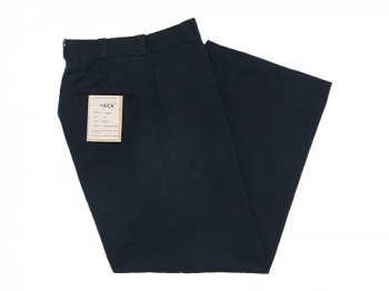YAECA CHINO CLOTH PANTS WIDE BLACK 〔レディース〕