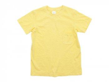 YAECA STOCK ポケットTシャツ YELLOW 〔レディース〕