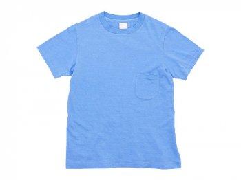 YAECA STOCK ポケットTシャツ BLUE 〔レディース〕